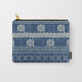 Mud Cloth Geometric Stripe Navy Carry-All Pouch