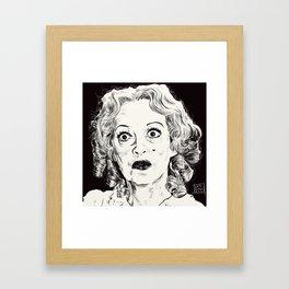 Bette Davis/Baby Jane Framed Art Print