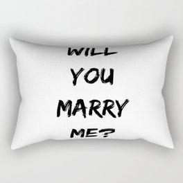 Will you Marry Me Rectangular Pillow