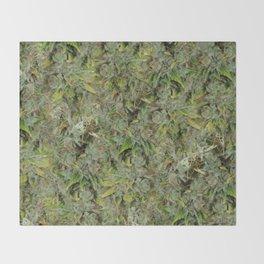 cannabis bud, marijuana macro Throw Blanket