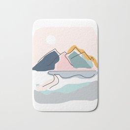 Minimalistic Landscape Bath Mat