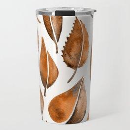 Cascading Leaves – Orange Palette Travel Mug
