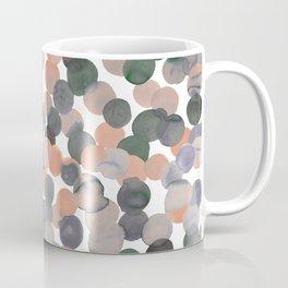 Gracie Spot Peach Grey Coffee Mug