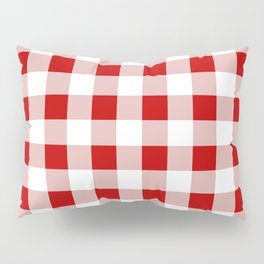 Red and White Check Pillow Sham