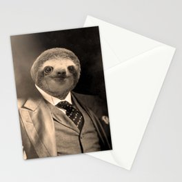Gentleman Sloth with Monocle Stationery Cards
