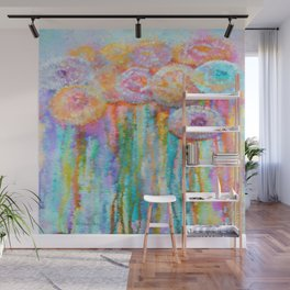Colorful Flowers Abstract Wall Mural