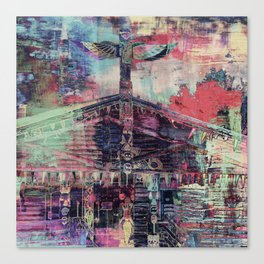 Totem Cabin Abstract - Multi Canvas Print