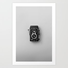 Old Camera (Black and White) Art Print