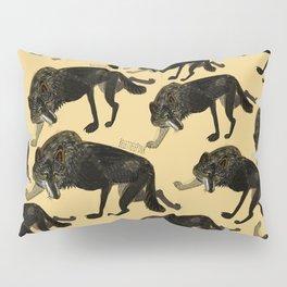 Black wolf totem (Canis lupus nubilus) (c) 2017 Pillow Sham