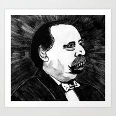24. Zombie Grover Cleveland  Art Print