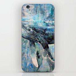 Whale Art iPhone Skin