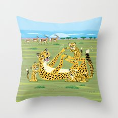 Cheetahs and Gazelles Throw Pillow
