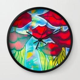 Blossom's Lips Wall Clock