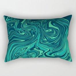 Blue emerald abstract marble Rectangular Pillow