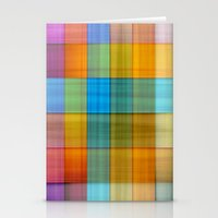 fabric Stationery Cards featuring Fabric by RingWaveArt