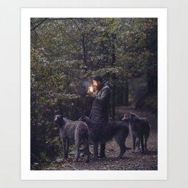The Scottish Wolfhound Art Print