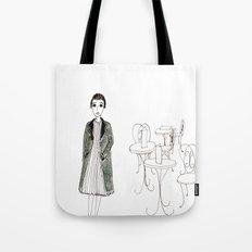 cafe girl Tote Bag