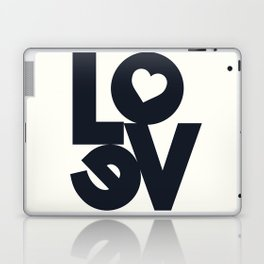 Love, tyopgraphy illustration, gift for her, people in love, be my Valentine, Romantic lettering Laptop & iPad Skin