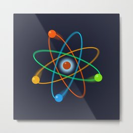 Atomic Structure Cool Science Graphic Art Illustration Metal Print