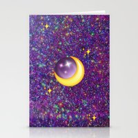 emoji Stationery Cards featuring Emoji Moon by jajoão