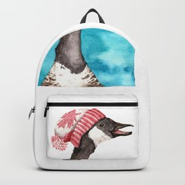 Canada Goose in a Canada Toque Backpack