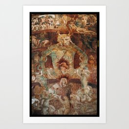 The last judgment hell by francesco Traini campo santos Pisa Italy Art Print