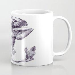 Halloween Horror Macabre Merman Meerjungfrau Vector Coffee Mug