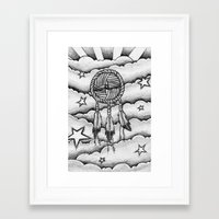 dream catcher Framed Art Prints featuring Dream catcher by DeMoose_Art