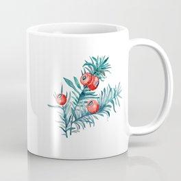 Watercolor Yew Berries Coffee Mug
