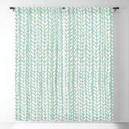 Knit Wave Mint Blackout Curtain