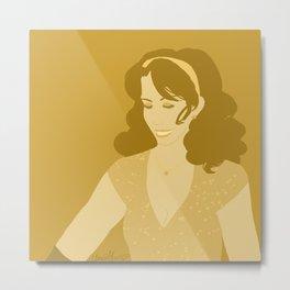 Golden TT Metal Print