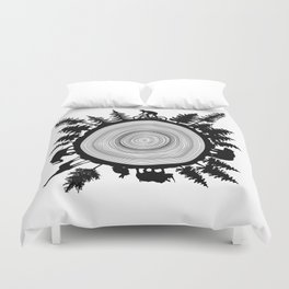Into The Woods - Tree Ring Duvet Cover