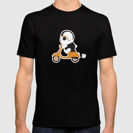 Panda on vespa T-shirt