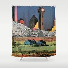 Homestead Blues Shower Curtain