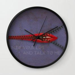 Unzip and talk Wall Clock