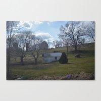 farm Canvas Prints featuring farm by Dottie