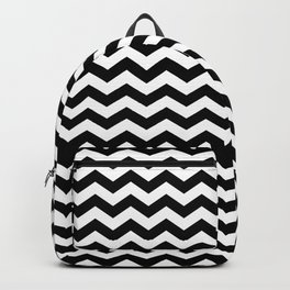 Black And White Zigzag Chevron Backpack