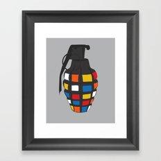 Rubik's Grenade Framed Art Print