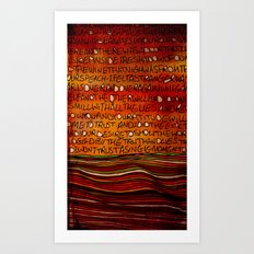 LINE AND WORDS -1 in color Art Print
