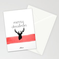 Christmas time - Deer edition Stationery Cards