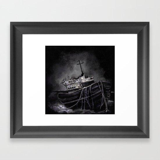 Dark Voyage Framed Art Print