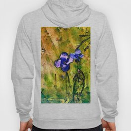 Wild blue flax Hoody