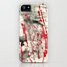 back blood iPhone Case