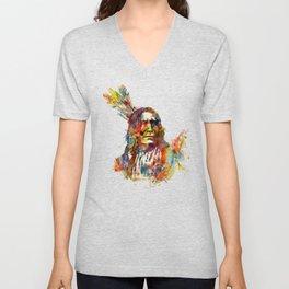 Chief Mojo Watercolor Unisex V-Neck