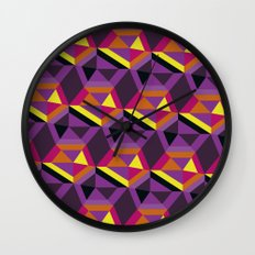 Chasing purple Wall Clock