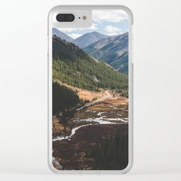 Climbing Independence Pass Clear iPhone Case