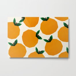 Abstraction_Orange_Fruit Metal Print