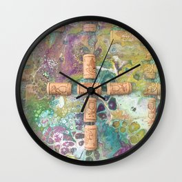 Cork Cross Wall Clock