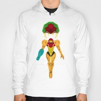 metroid Hoodies featuring Metroid by A Strom