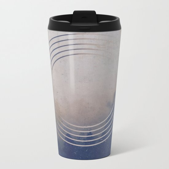 Circles into the Fog Metal Travel Mug